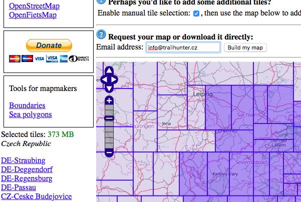 Volba jednotlivých polí: pozor na celkovou velikost mapy