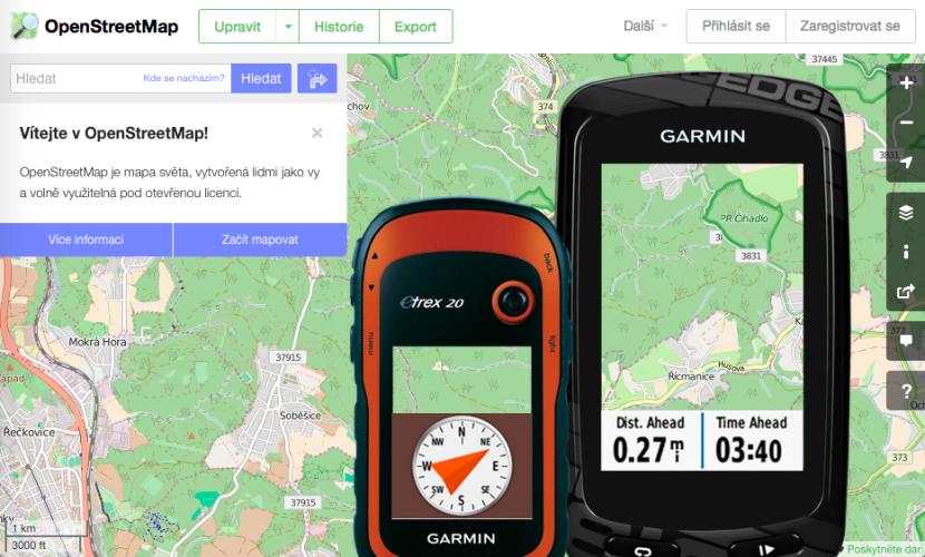 OpenStreetMap: mapy pro Garminy zdarma (návod)