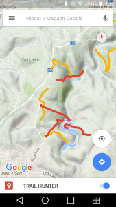 Trail Hunter - výběr trailu