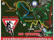 Mapa trailů - Bike arena Zlatnícka dolina