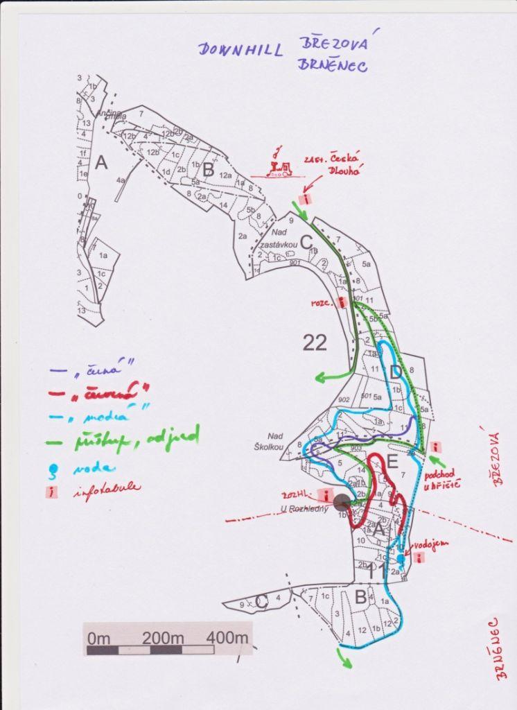 Mapa trailů