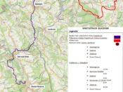 Mapa projektu Singletrack Glacensis
