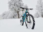 Na kole v zimě