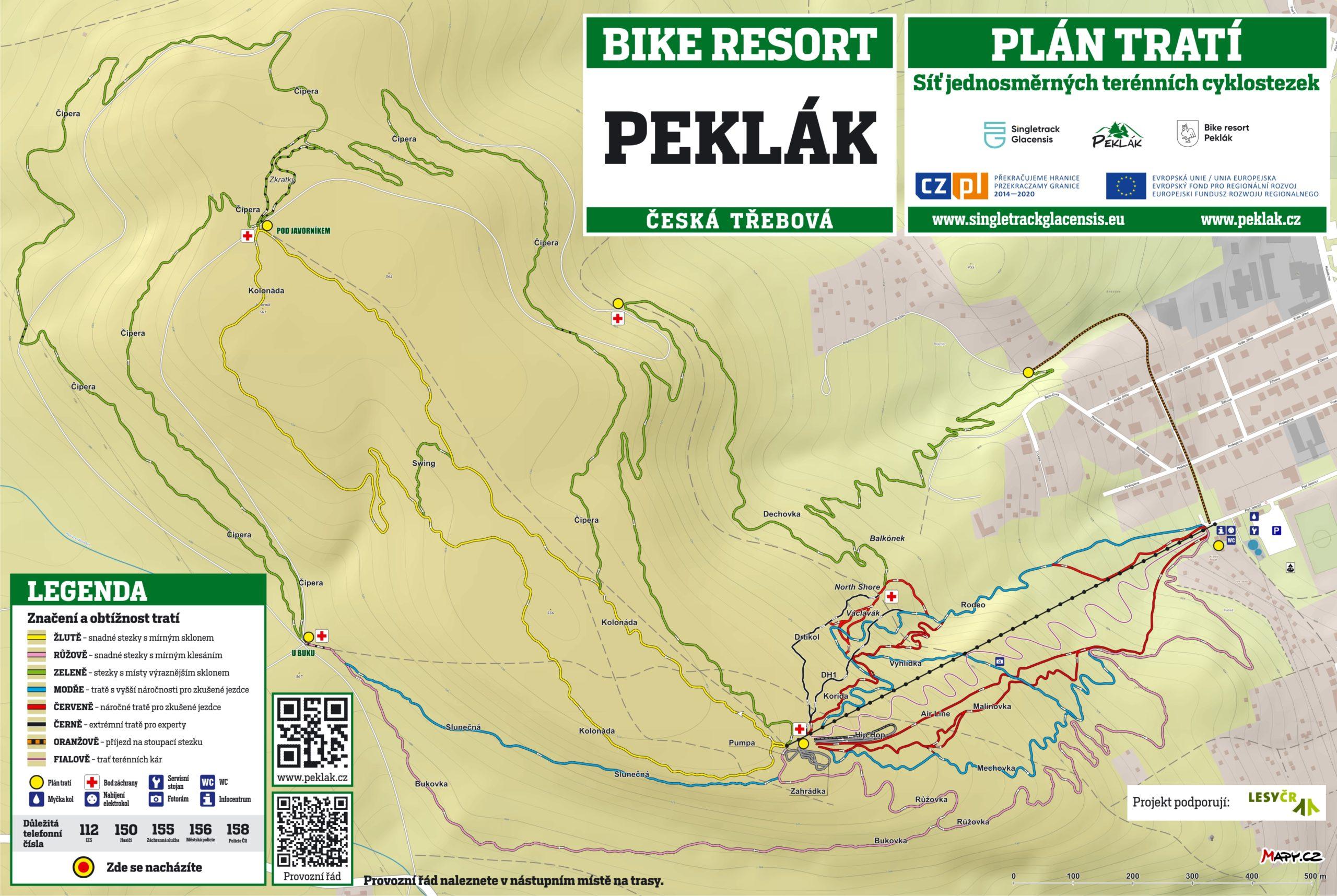 Peklak mapa trailu